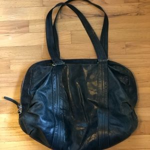 Latico indigo leather hobo tote bag